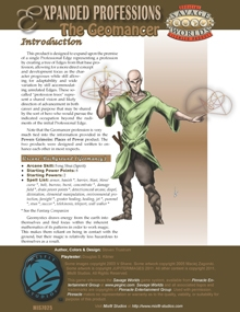 Expanded Professions: The Geomancer on RPGNow.com