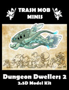 Trash Mob Minis Dungeon Dwellers 2 2.5 D model kit