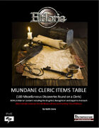 Mundane Cleric Items Tables