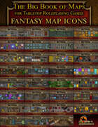 Fantasy Adventure VTT Map Icons (Over 620 Icons)