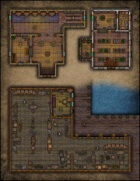 VTT Map Set - #095 Fletcher and Archery Range, Herbalist and Apothecary & Docks and Warehouse