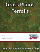 Grass Plains Terrain Map (Hexes = 1 Yard)