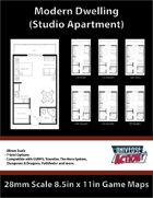 Studio Apartment Map (28mm Scale)