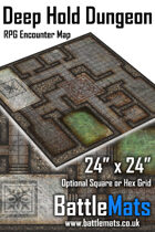"Deep Hold Dungeon 24"" x 24"" RPG Encounter Map"