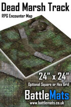 "Dead Marsh Track 24"" x 24"" RPG Encounter Map"