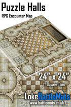 "Puzzle Halls 24"" x 24"" RPG Encounter Map"