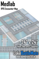 "Medlab 24"" x 24"" RPG Encounter Map"