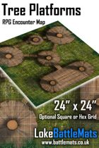 "Tree Platforms 24"" x 24"" RPG Encounter Map"