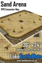 "Sand Arena 36"" x 24"" RPG Encounter Map"
