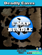 50+ Fantasy RPG Maps 1 Bundle 16: Deadly Caves Bundle [BUNDLE]