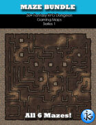 50+ Fantasy RPG Maps 1 Bundle 15: Mazes Bundle [BUNDLE]