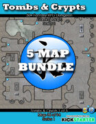 50+ Fantasy RPG Maps 1 Bundle 09: Tomb & Crypts Bundle [BUNDLE]