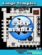 50+ Fantasy RPG Maps 1 Bundle 08: Large Temples Bundle [BUNDLE]