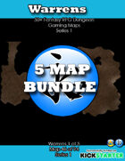 50+ Fantasy RPG Maps 1 Bundle 07: Warrens Bundle [BUNDLE]