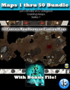 50+ Fantasy RPG Maps 1 Bundle 02: Maps  51 thru 95 [BUNDLE]