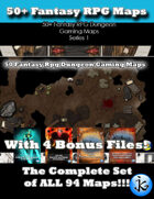 50+ Fantasy RPG Maps 1 Bundle 01:  All 94 Maps [BUNDLE]