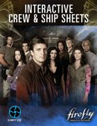 Firefly Interactive Crew and Ship Sheets