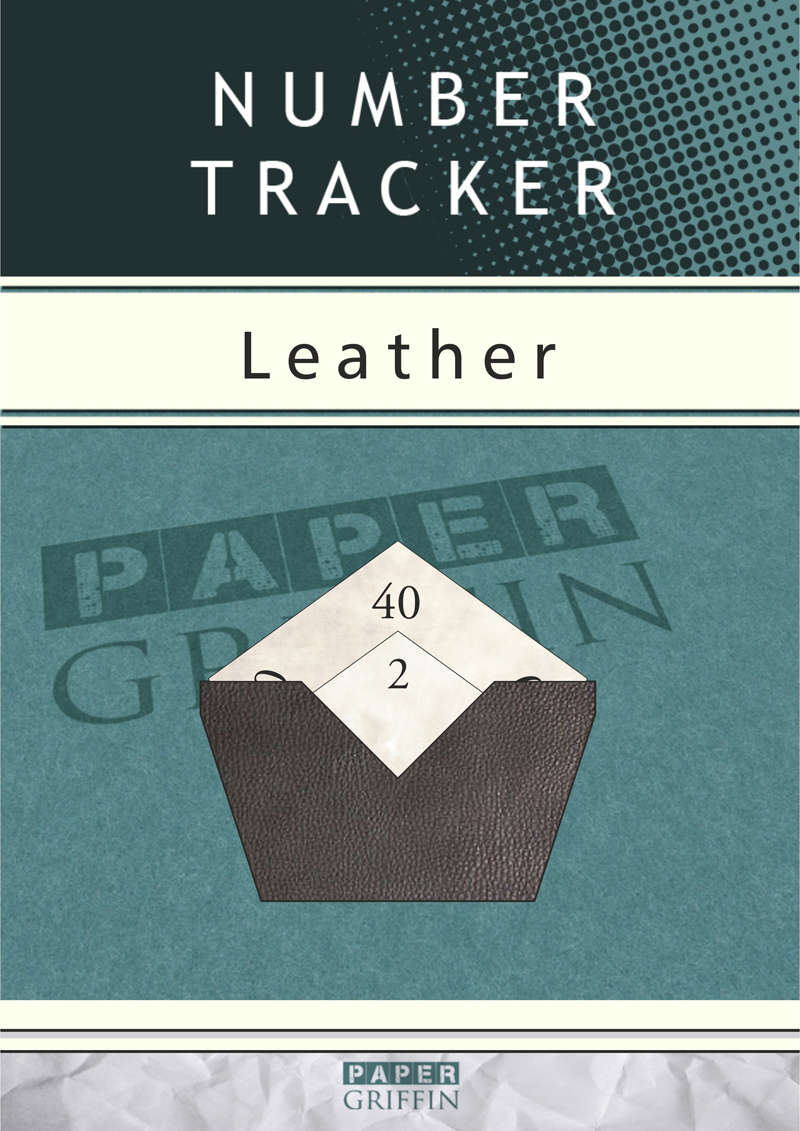 Number Tracker - Leather