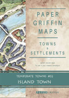Paper Griffin Maps: Towns & Settlements - Temperate Towns 02 - Island Town