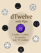 dTwelve With Pips dice fonts