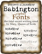 Babington cipher fonts