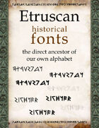 Etruscan historical fonts