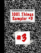 1001 Things Sampler #3