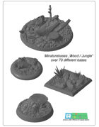 "miniatures Base Set ""Wood / Jungle"" (STL Files)"