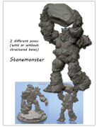 2x Stonemonster minitures -STL files-
