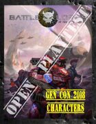 Battlelords of the 23rd Century, 7th Edition - Gen-Con 2018 Characters