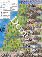 Map of Feldspar region poster