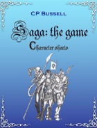 Saga: the Game Character Sheet Large Print