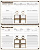 TRUDVANG CHRONICLES: 3 x NPC Sheets