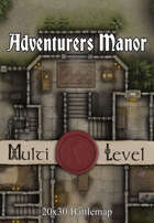 30x20 Multi-Level Battlemap - Adventurers Manor | Seafoot Games