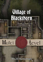 30x20 Multi-Level Battlemap - Village of Blackthorn