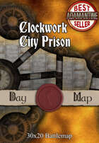 30x20 Battlemap - Clockwork City Prison