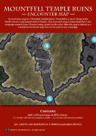 Mountfell Temple Ruins - Encounter Map