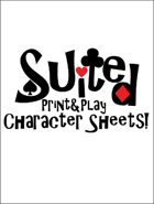 Suited: Print & Play Character Sheets