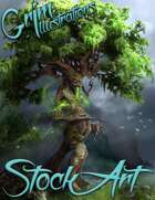 Standard Fantasy Stock Art - Tree Creature (treant)