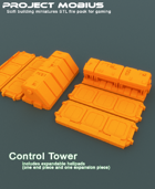 3D Printable Control Tower With Expandable Helipads