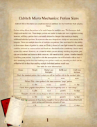 Eldritch Micro Mechanics: Potion Sizes