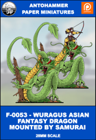 F-0053- WURAGUS FANTASY ASIAN DRAGON MOUNTED BY SAMURAI