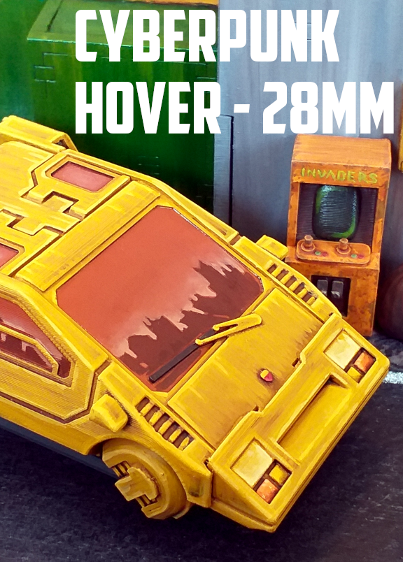 Cyberpunk Hover Car: 3D Printable for 28mm Wargames - Tabletop Terrain |  DriveThruRPG com