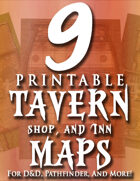 9 Printable Tavern & Inn Maps