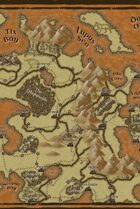 """Fausa"" Island Continent World Map"