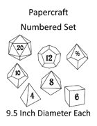 Papercraft Dice Set - Numbered - 9.5in