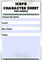 ICRPG Mobile Character Sheet