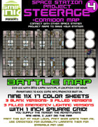9 sheet BATTLEMAP space station set 4 steerage