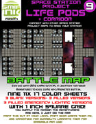 9 sheet BATTLEMAP space station set 9 life pods