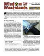 Wisdom from the Wastelands Issue #21: High-Tech Melee Weapons